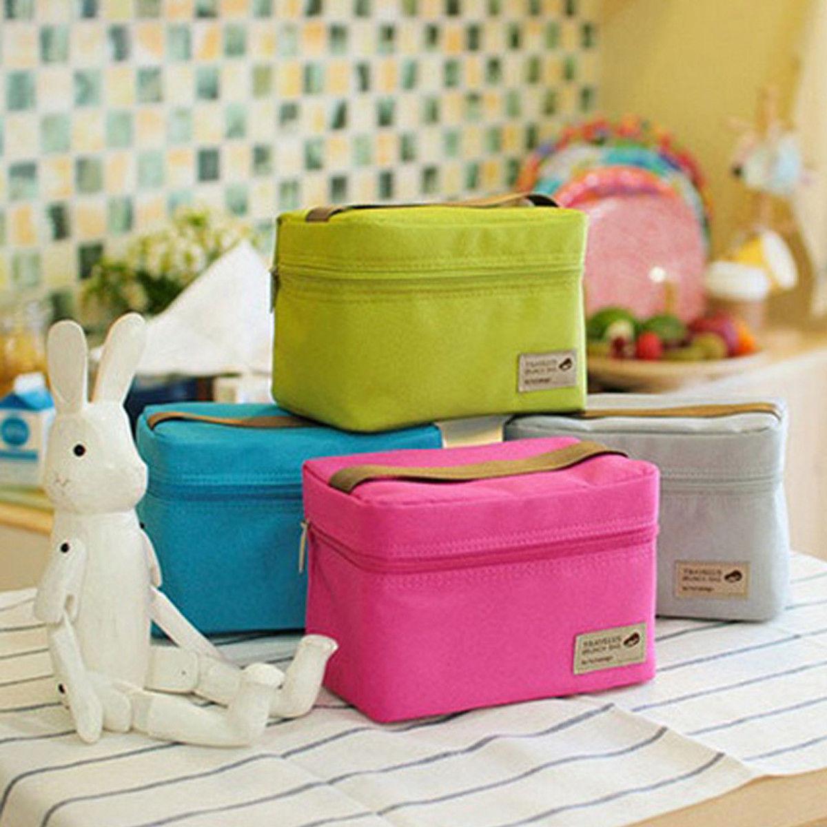 Lancheira térmica portátil, bolsa à prova dágua para carregar piquenique, almoço, caixa de armazenamento, piquenique