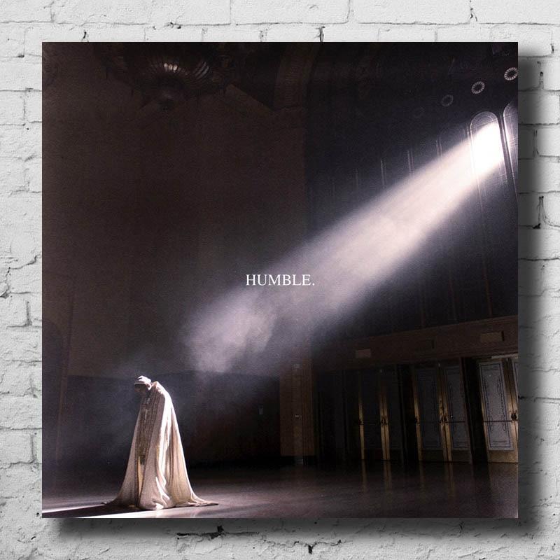 Kendrick Lamar Humble DAMN Light Canvas Poster Album Art Cover Silk Print 14x14 24x24 30x30 For Room Decoration P-53