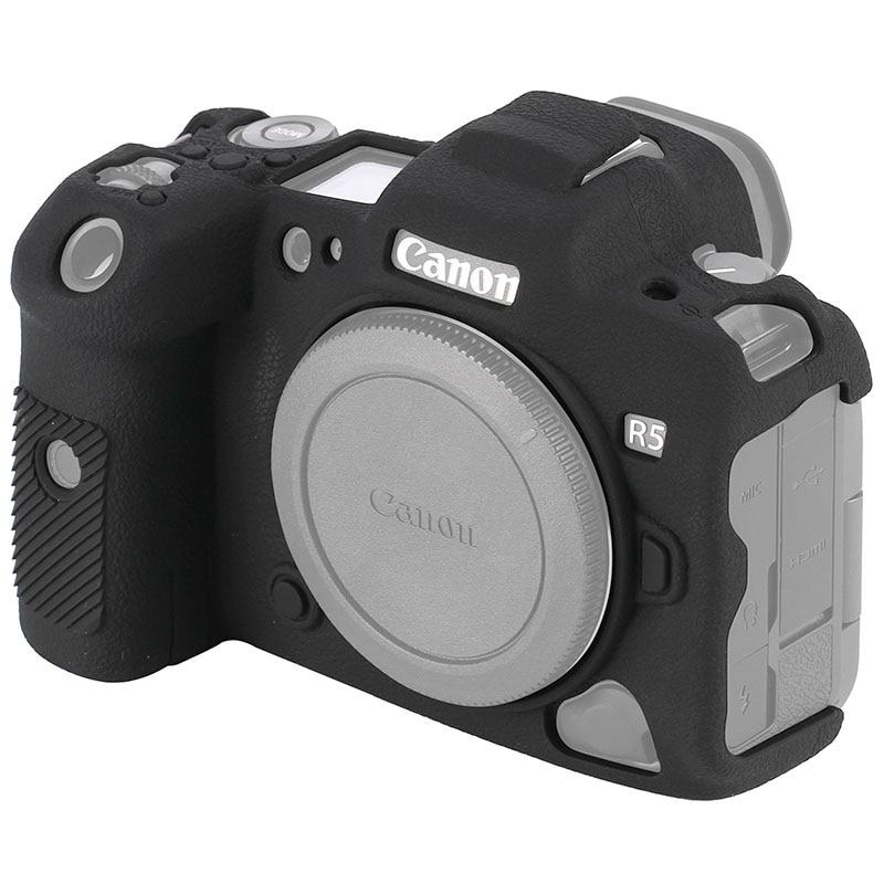 غطاء واقي سميك مضاد للانزلاق ، مطاط سيليكون ناعم ، جسم كاميرا كانون EOS R5 ، حقيبة DSLR