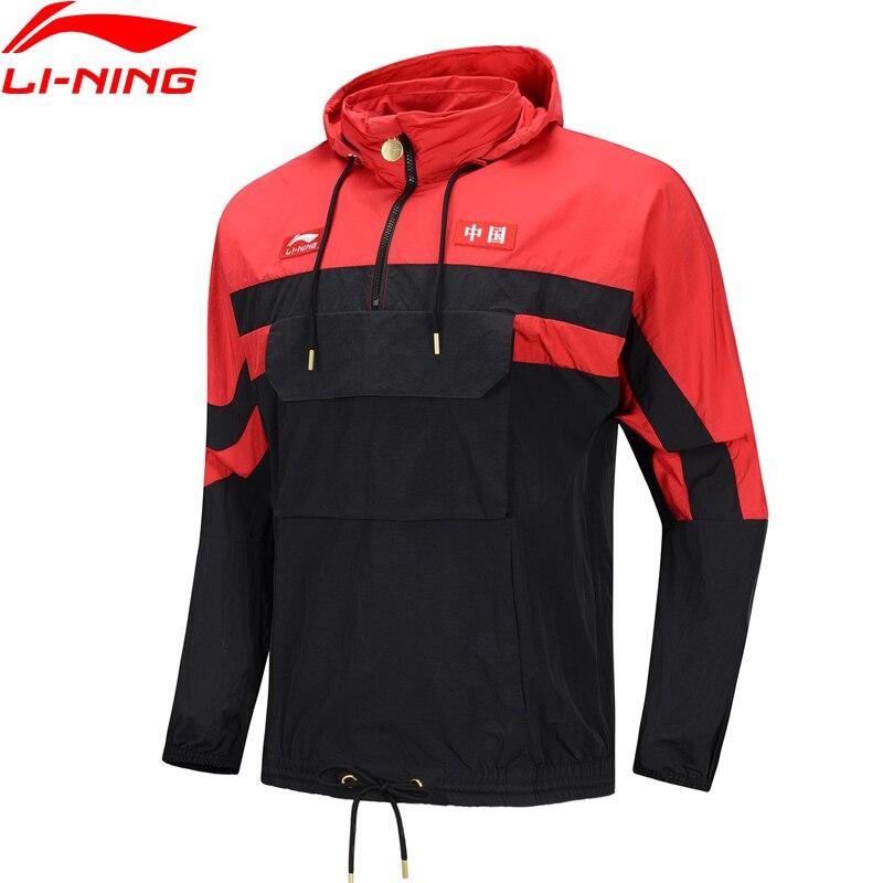 Li-ning men a tendência china LI-NING jaquetas esportivas windbreakers ajuste solto com capuz náilon li ning forro casacos esportivos afdp179 mwf403