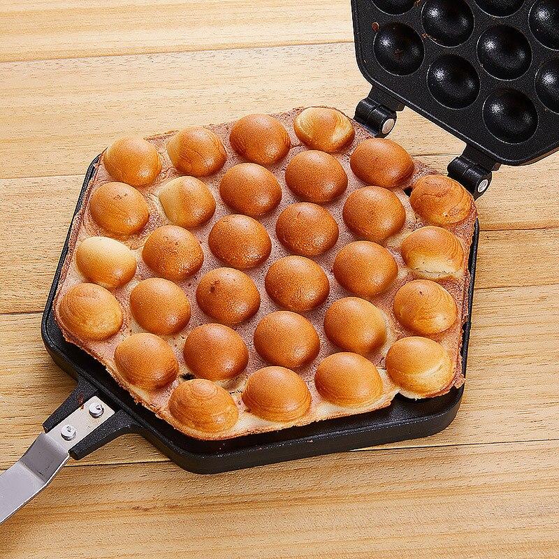 Egg Bubble Cake Baking Pan Mold Eggettes Iron Aluminum Hongkong Waffle Maker Mould Non-stick Coating DIY Muffins Plate