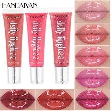 HANDAIYAN Moisturizer Natural Jelly Lip Gloss Plumping Lipgloss Glass Lip Plumper Makeup Waterproof Lipstick Cosmetics 12 Colors