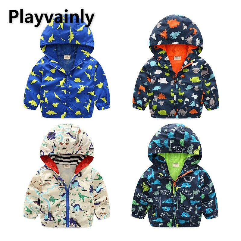2021 New Boys Jackets Baby Coats Cartoon windbreaker Long Sleeve Casual Kids Jackets for Boys Kids C