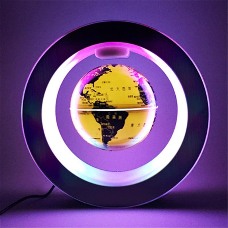 Novidade led noite flutuante globo levitação magnética luz o forma led mapa do mundo antigravidade magia/romance lâmpada aniversário casa presente