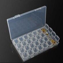 28 multi-function plastic box for cross stitch diamond jewelry pill screw beads Home storage storage organizer Accessories Box