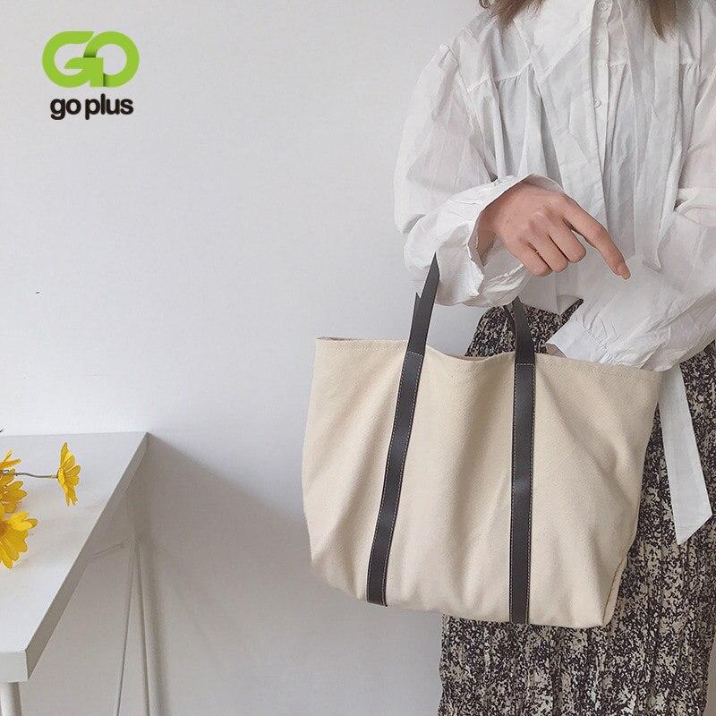 Goplus 2020 bolsa de lona feminina bolsas do vintage sacos de compras na moda grande capacidade para o sexo feminino novo sac