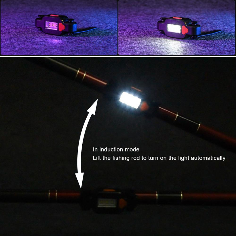 Gravity Induction Bait Lamp Night Fishing Pull Bait Off Fish Induction Lighting Rechargeable Fishing Tackle Lamp Fishing Tool enlarge
