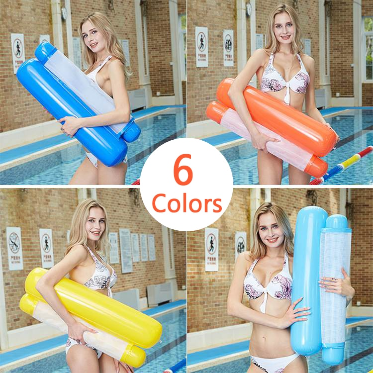 Piscina caliente cama inflable agua flotante hamaca flotador piscina Lounge cama playa silla