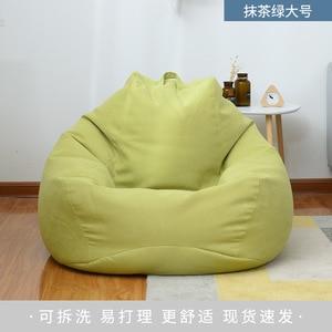90*110cm  high quality simple non-skeleton fabric cotton single tatami comfortable bean bag creative balcony lazy bean bag sofa