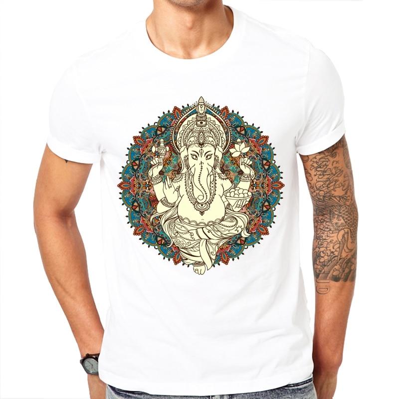 Camiseta con diseño de Dios Ganesha para hombre de ropa moderna con...