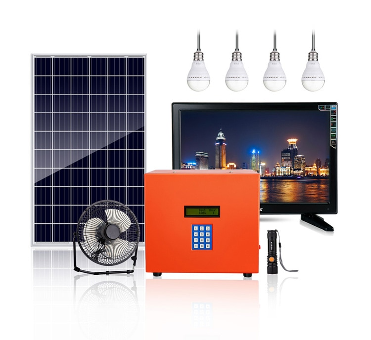 Portable payg solar generator 30W for home use all in one portable kit with lithium battery enlarge