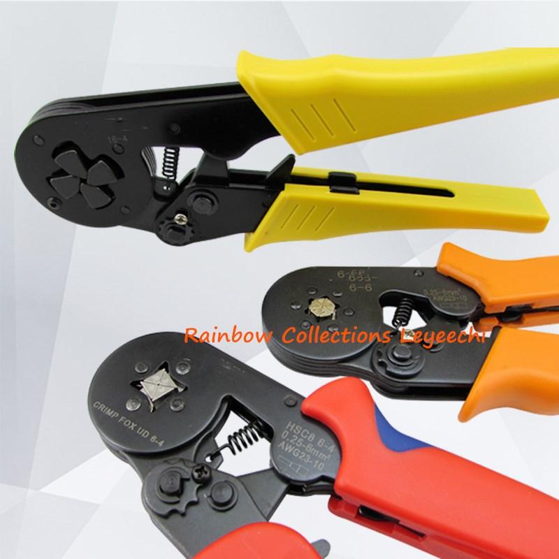 HSC8 6-4A/6-6/16-4/10-4S cuadrilátero/hexagonal tipo de tubo de engarce Alicates de terminal Alicates para terminal envío gratis