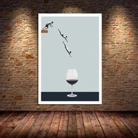 abstract nordic poster swim wine glass canvas painting posters prints wall art pictures for living room home decorative unframed