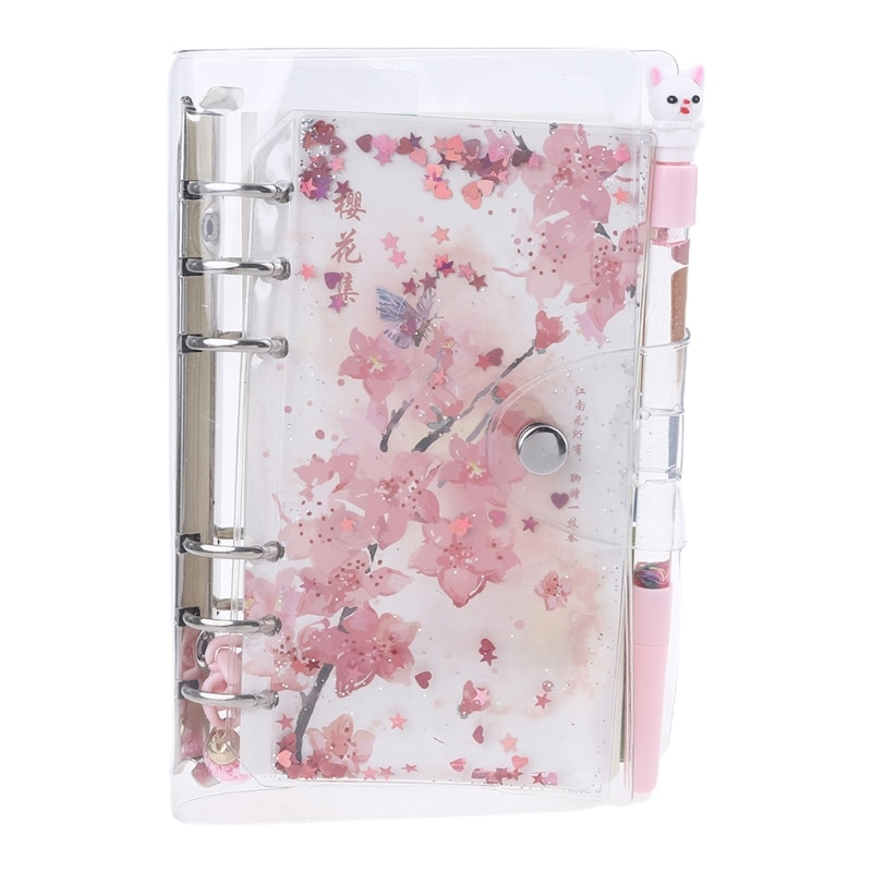 Cherry Blossoms Loose Leaf Diary Notebook Journal Note Book Agenda Planner 160Pc U4LD