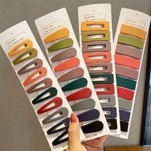 10 unids/set de horquillas huecas geométricas de colores, horquillas mate, pinzas para el pelo, pasador Simple, accesorios para el cabello