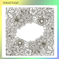 daboxibo beautiful flower transparent clear stamps for diy scrapbookingcard makingphoto album silicone decorative crafts 13x13