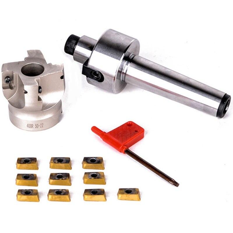 Heißer Verkauf Neue Mt3-Fmb22-M12 Schaft 400R 50-22 Gesicht Fräsen Cnc Cutter + 10Pcs Apmt1604 Einsätze Für Power werkzeug