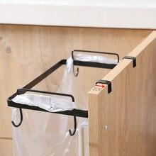 Porta porta sacchetti di immondizia gancio appendiabiti armadio supporto per Rack portaoggetti accessori da cucina immondizia da cucina in acciaio inossidabile