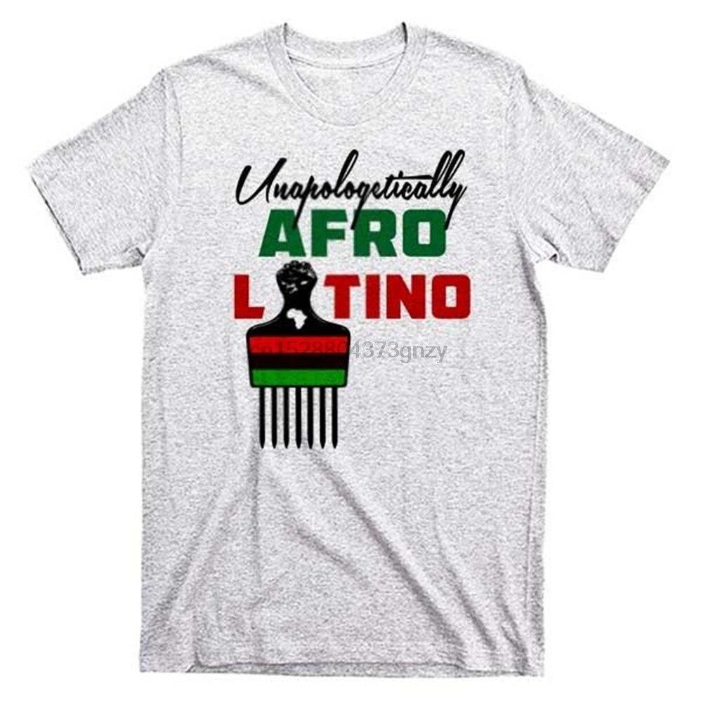 Afro Camiseta estilo latino República Dominicana, Puerto Rico Cuba español África antepasados camiseta de hip hop camiseta