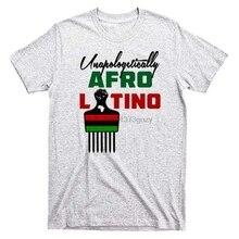 Afro Latino T-Shirt Dominican Republic Puerto Rico Cuba Spanish Africa Ancestory Hip-Hop Tee Shirt