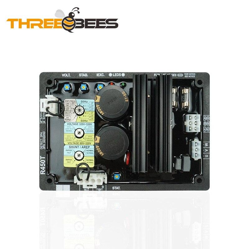 R450T AVR Генератор, плата регулятора напряжения, автоматический регулятор напряжения, регулятор напряжения, аксессуары для генератора