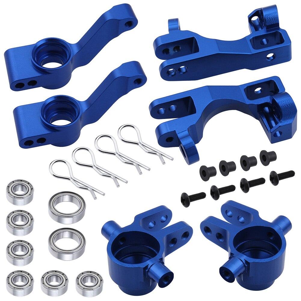 For 1/10 Traxxas Slash 4x4 Aluminum Left & Right Steering Blocks Part # 6837X C-Hubs 6832X Axle Carriers Caster Blocks 1952X