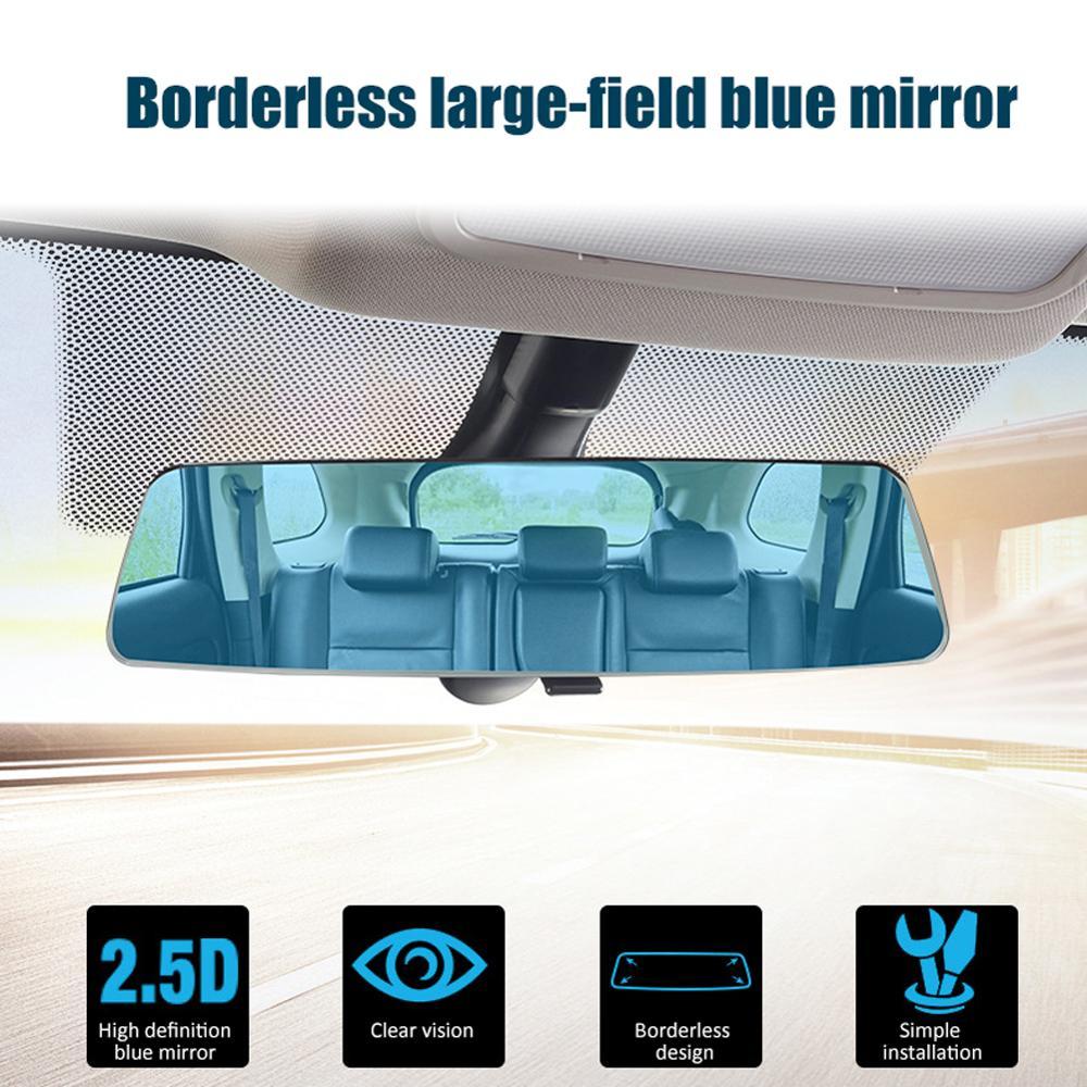 Ángulo panorámica HD amplia visión Anti-deslumbramiento espejo retrovisor del coche bebé espejo retrovisor Universal accesorios de Interior de coche
