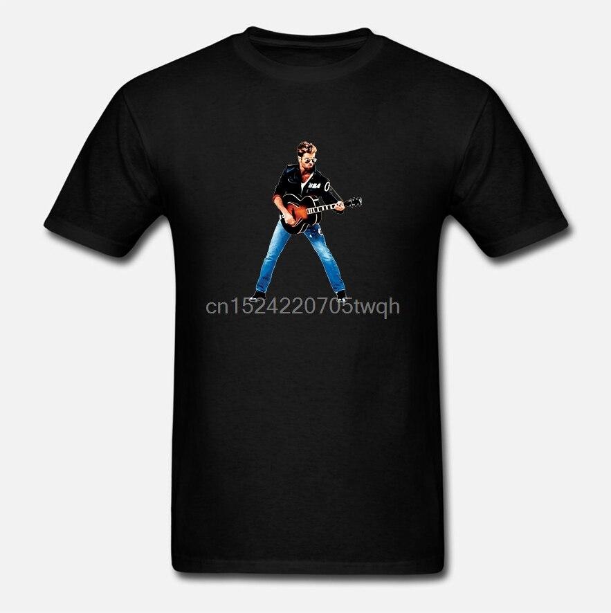 George Michael Wham Musik Rock Star Kunst Poster Geschenk Unisex Damen T Shirt 467b