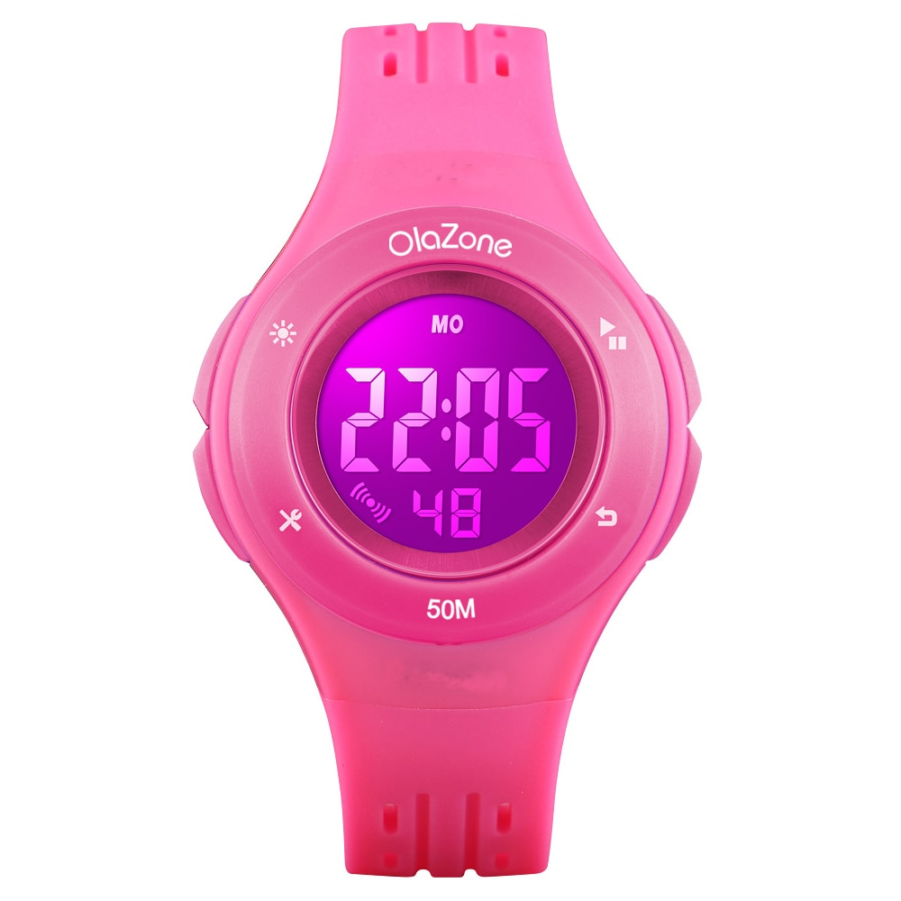 Kids Watches Girls Digital 7-Color Flashing Light Water Resistant 100FT Alarm Gifts for Girls Age 8-12 Years Old