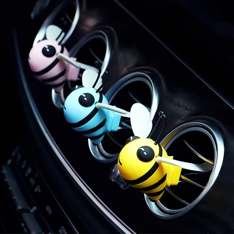 cute bee car air freshener auto interior Car aromatherapy outlet perfume accessories