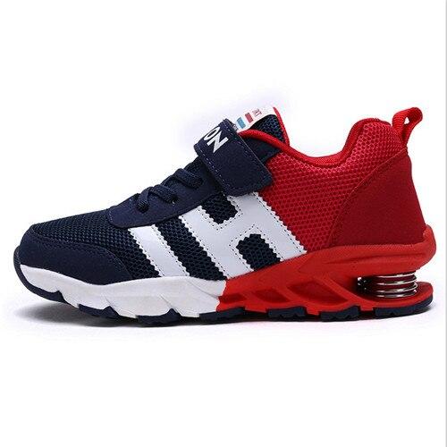 Новый дизайн, детская спортивная обувь для мальчиков и девочек, Весенняя амортизирующая подошва, нескользящая, Лоскутная, дышащие детские к...