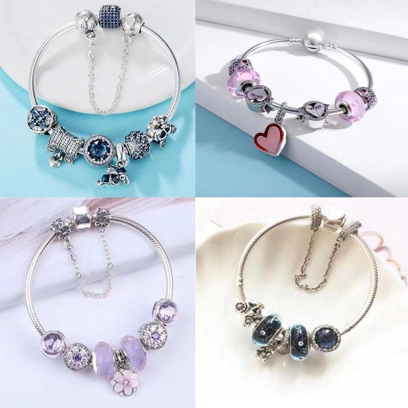 Hohe qualität Mode Clip Perlen Armbänder für Frauen Fit Original armband charme femme Schmuck geschenk