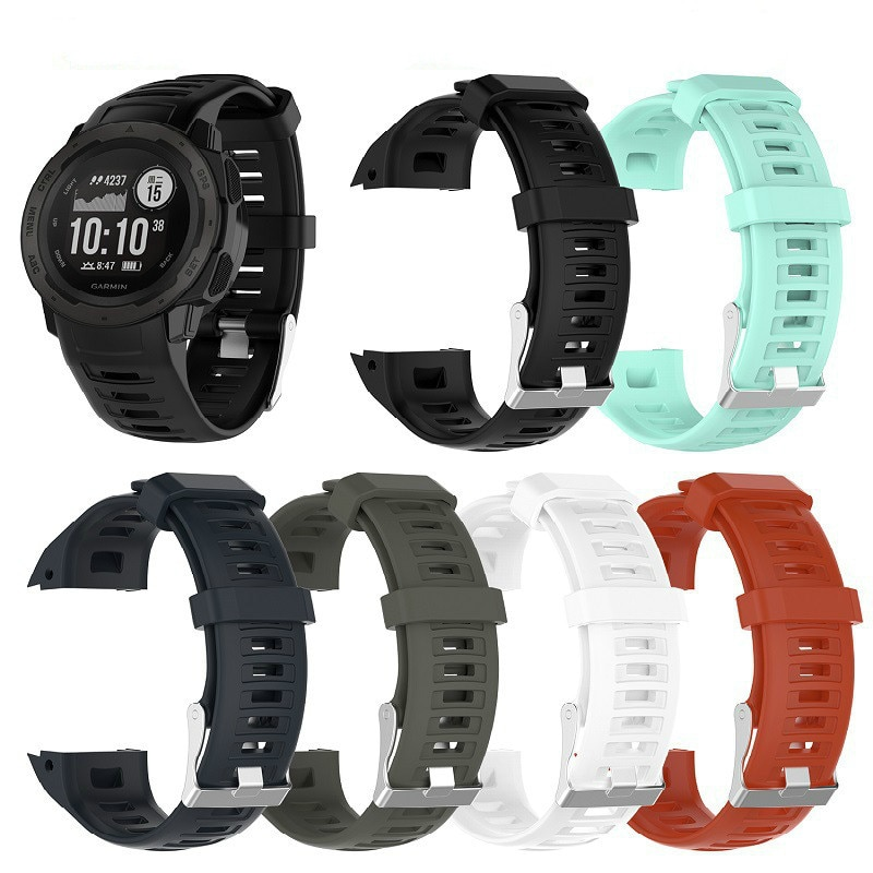 Quick Release Silicone Replacement Strap Watch Band for Garmin Instinct Replacement Wristband Strap Smart Watch Accessories sport silicone watch band for suunto core smart watch replacement brand new high quality wristband watch belt smart accessories