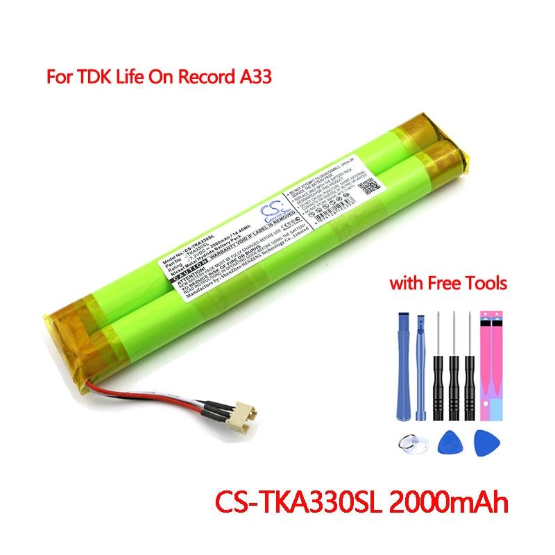 Cs-tka330sl do Orador de Bluetooth para Tdk Bateria Vida Registro Mais Novo Cameron Sino Baterias Recarregáveis Batteria 2000mah no A33