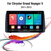 eastereggs 2din 9inch android car radio for chrysler grand voyager 5 2011 2015 wifi gps navigation fm bluetooth stereo head unit