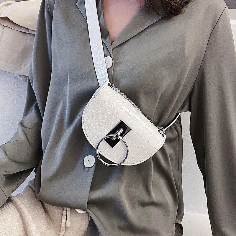Bolso de pecho con diseño de piedra Mododiino, bolsa de sillín para mujer, bolsa cruzada de cuero PU, riñonera cinturón, bolsa de cintura, bolsa DNV1360
