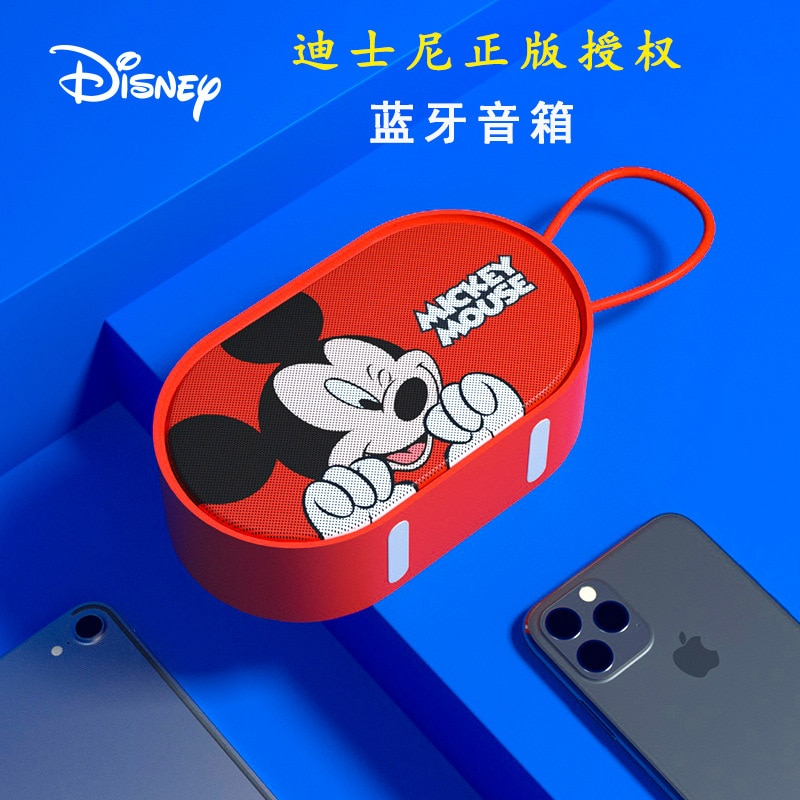 Disney mini bluetooth speaker high quality audio player 3D sound effect wireless portable small speaker Sound box subwoofer enlarge