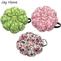 1pc wearable floral wrist pin cushions sewing needle pin cushion with elastic wrist belt needles holder for needlework stitching