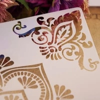 flower corner stencils template painting scrapbooking embossing stamping album card diy