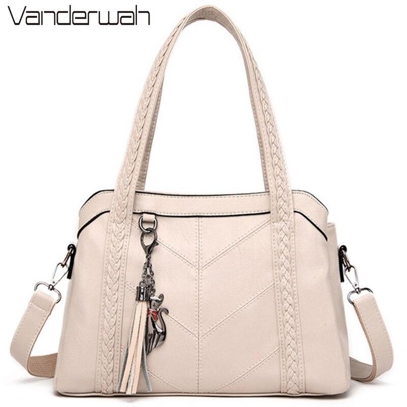 3 الرئيسية حقيبة جلدية فاخرة حقائب النساء حقائب مصمم حقائب جودة السيدات الكتف Crossbody حقائب اليد للنساء 2020 كيس