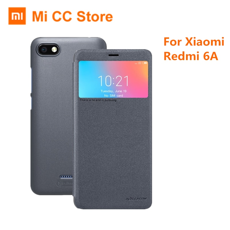For Xiaomi Redmi 6A 6 A Flip Case Genuine Nillkin PU Leather Back Cover Case For Xiaomi Redmi6A Phone Protective Case