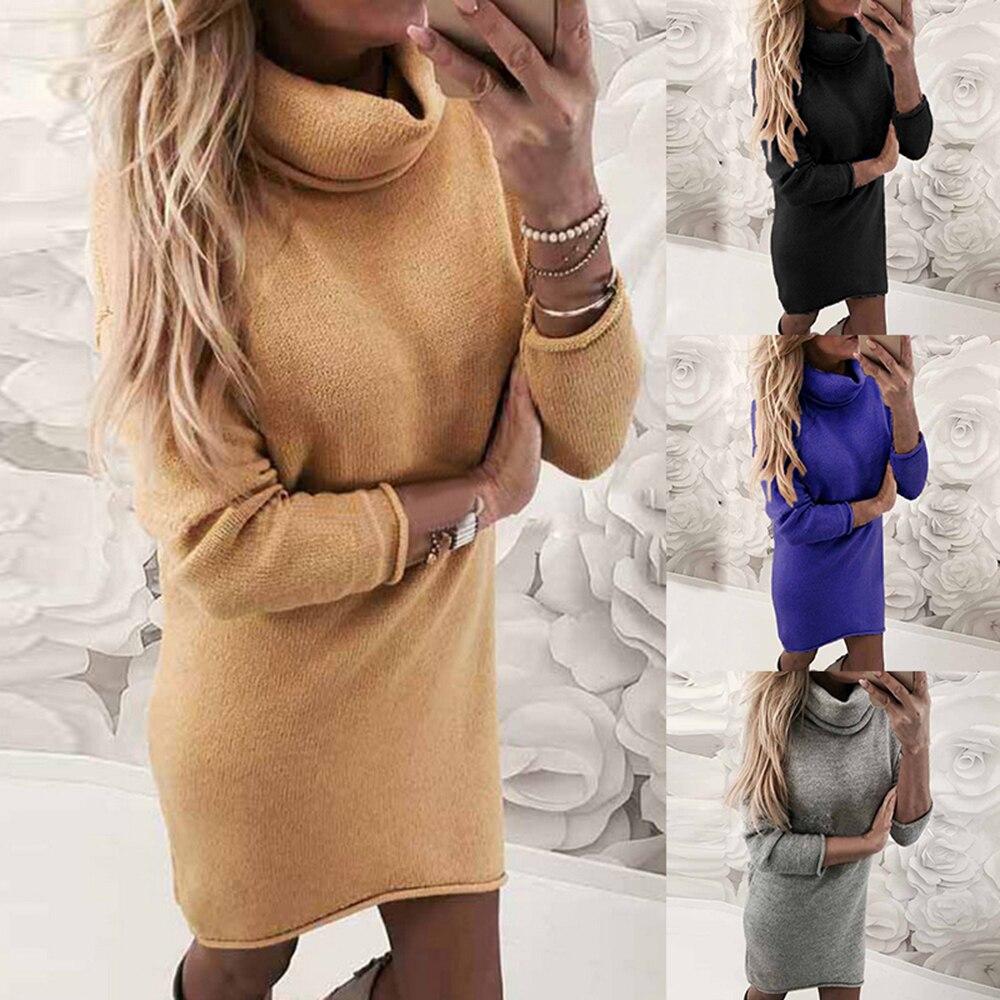 2020 moda plus size 2xl blusas de malha e pulôveres feminino solto gola alta longo sweter femme malhas tops