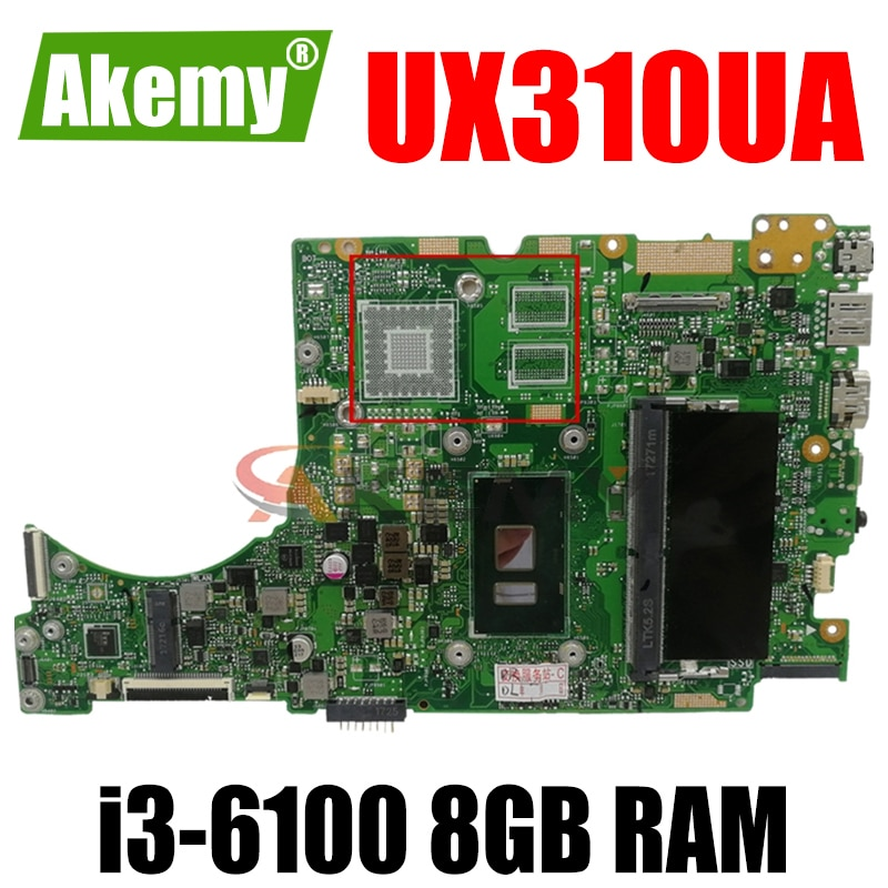 UX310UA اللوحة i3-6100CPU 8GB RAM اللوحة REV2.0 ل ASUS UX310U UX310UV UX310UQ UX310UA اللوحة المحمول 100% اختبار