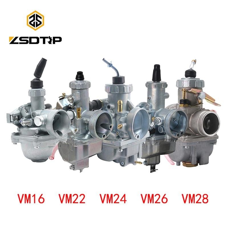 ZSDTRP Mikuni VM16 20 22 26 28 30mm T125 Carburetor 19mm 28mm 30mm 32mm Carb For 110-250cc Dirt Pit Bike ATV Quad Motorcycle