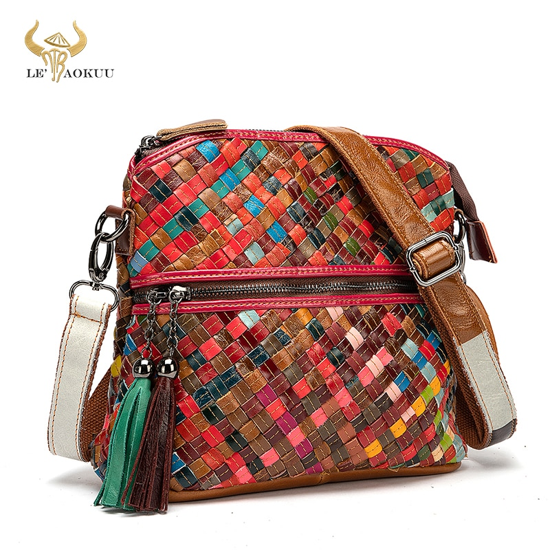 Soft Leather Women Patchwork Female Luxury Famous Brand Designer Purse And Handbag Fashion Colorful