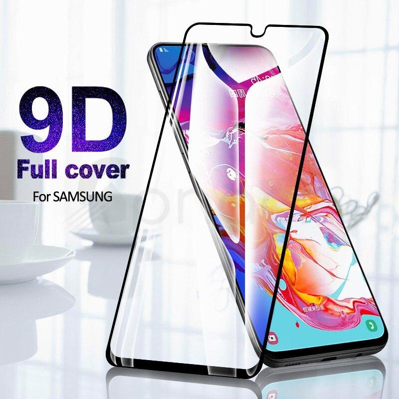 9D protectora de cristal para Samsung Galaxy A01 A11 A21 A31 A41 A51 A71 Protector de pantalla de cristal Samsung A21S A30 A50 de M11 M21 M31
