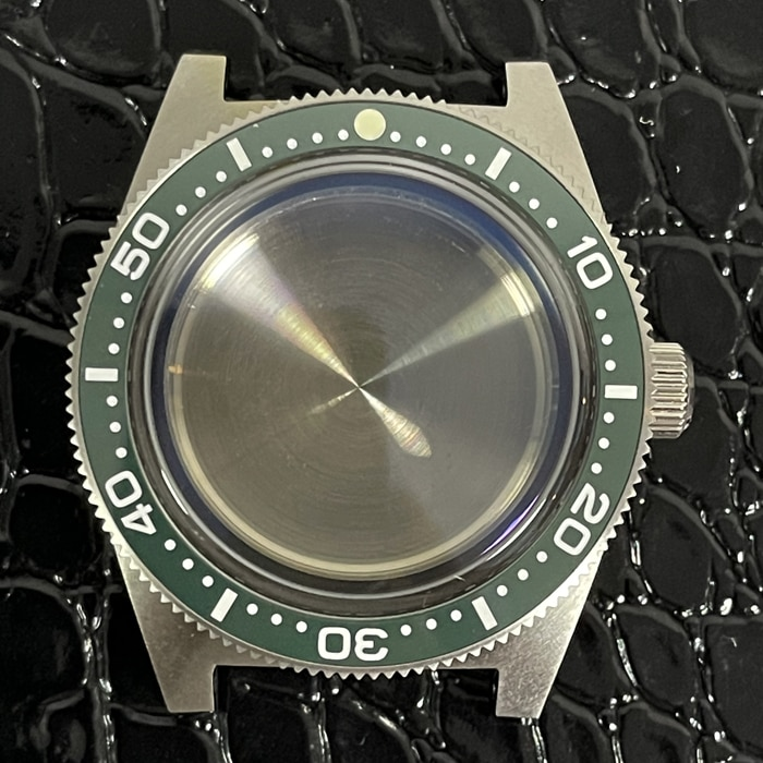 For Seiko 62MAS Watch Case Solid Sapphire Ceramic Bezel Diver Watch 300M Water Resistance Case For NH35 NH36A Automatic Movement