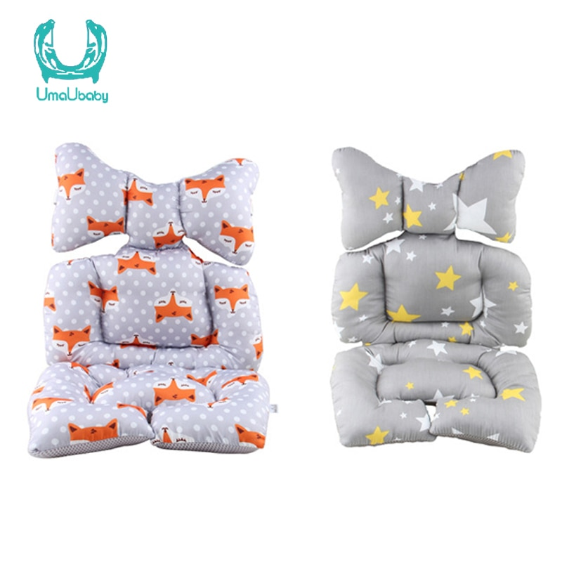 New Children's Car Seat Baby Car Cotton Pad Thick Cushion Baby Stroller Winter Warm Comfortable Baby Car Accessories