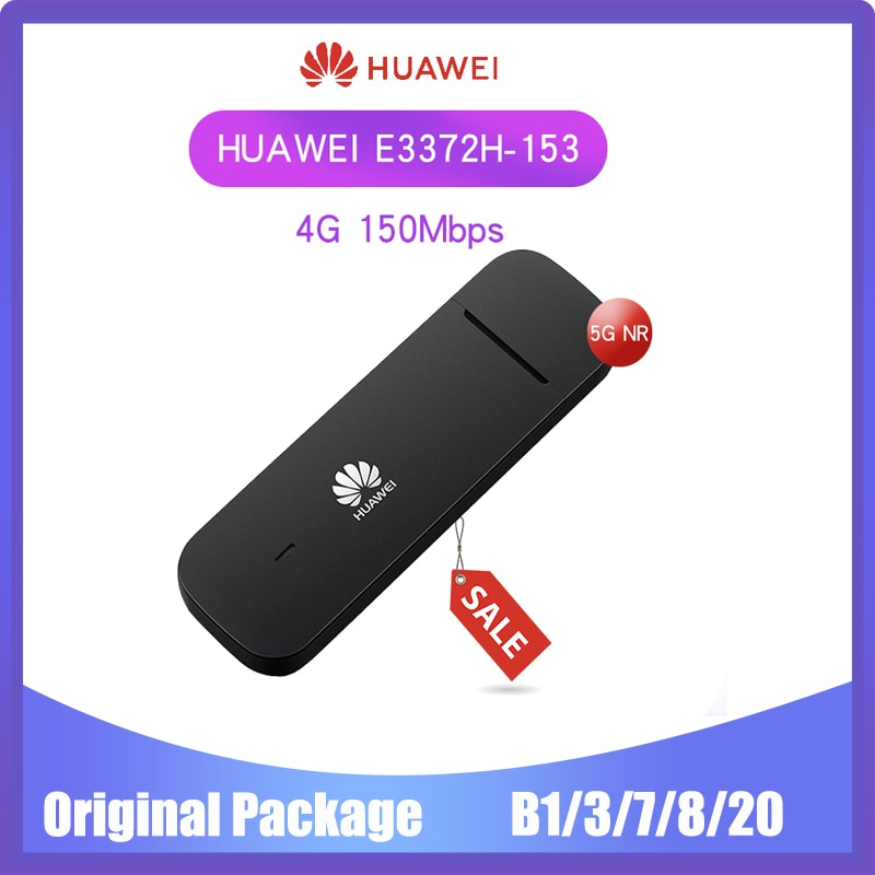 Разблокированный модем HUAWEI E3372-153 E3372s-153, 150 Мбит/с, 4G LTE, USB флешка, мобильный широкополосный PK E8372 E3272, 20 шт. в партии оптовая продажа 25 шт разблокированный usb модем huawei e3372s 153 4g lte