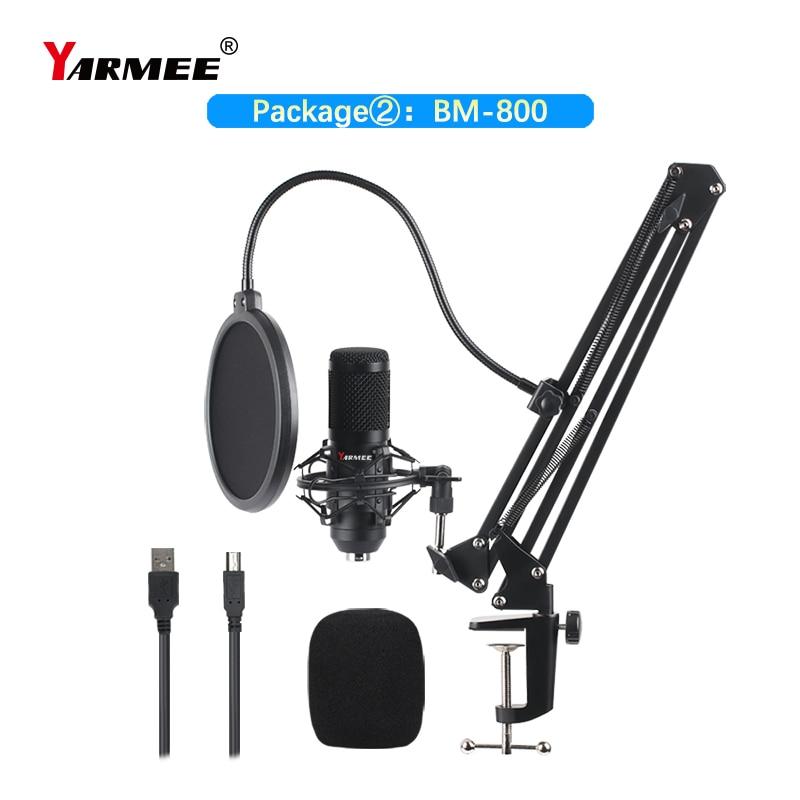 Micrófono Usb para ordenador, condensador profesional, BM800